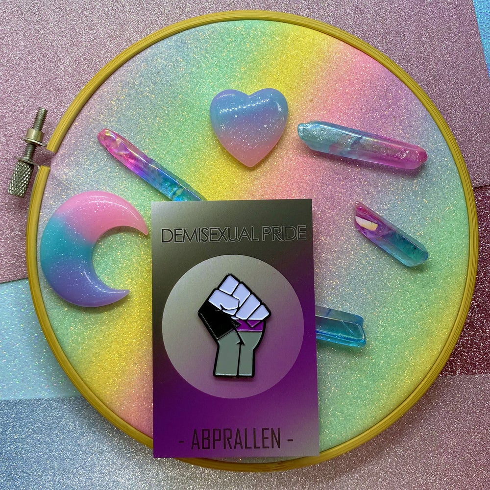 Image of Demisexual Pride Flag Enamel Pin