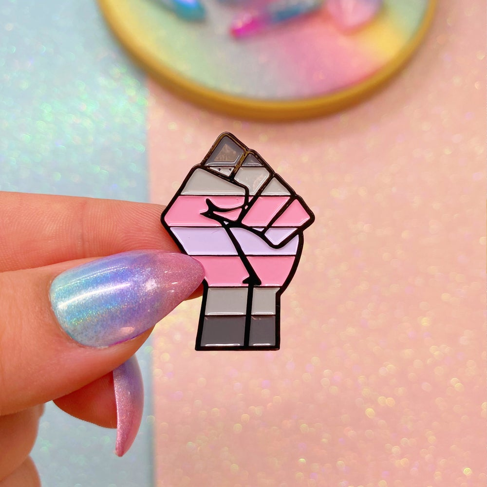 Image of Demigirl Pride Flag Enamel Pin