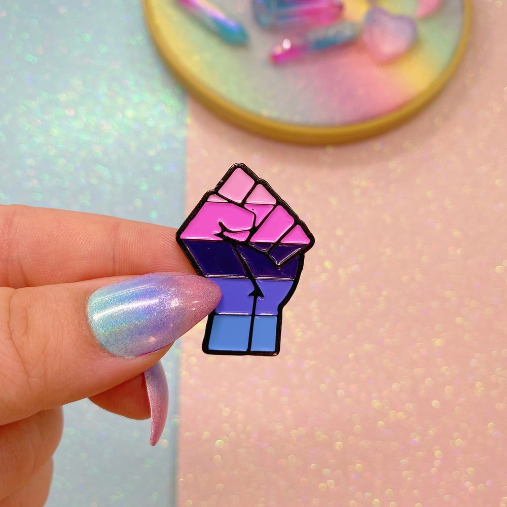 Image of Omnisexual Pride Flag Enamel Pin
