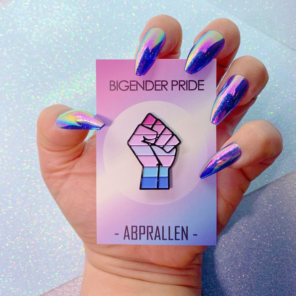 Image of Bigender Pride Flag Enamel Pin