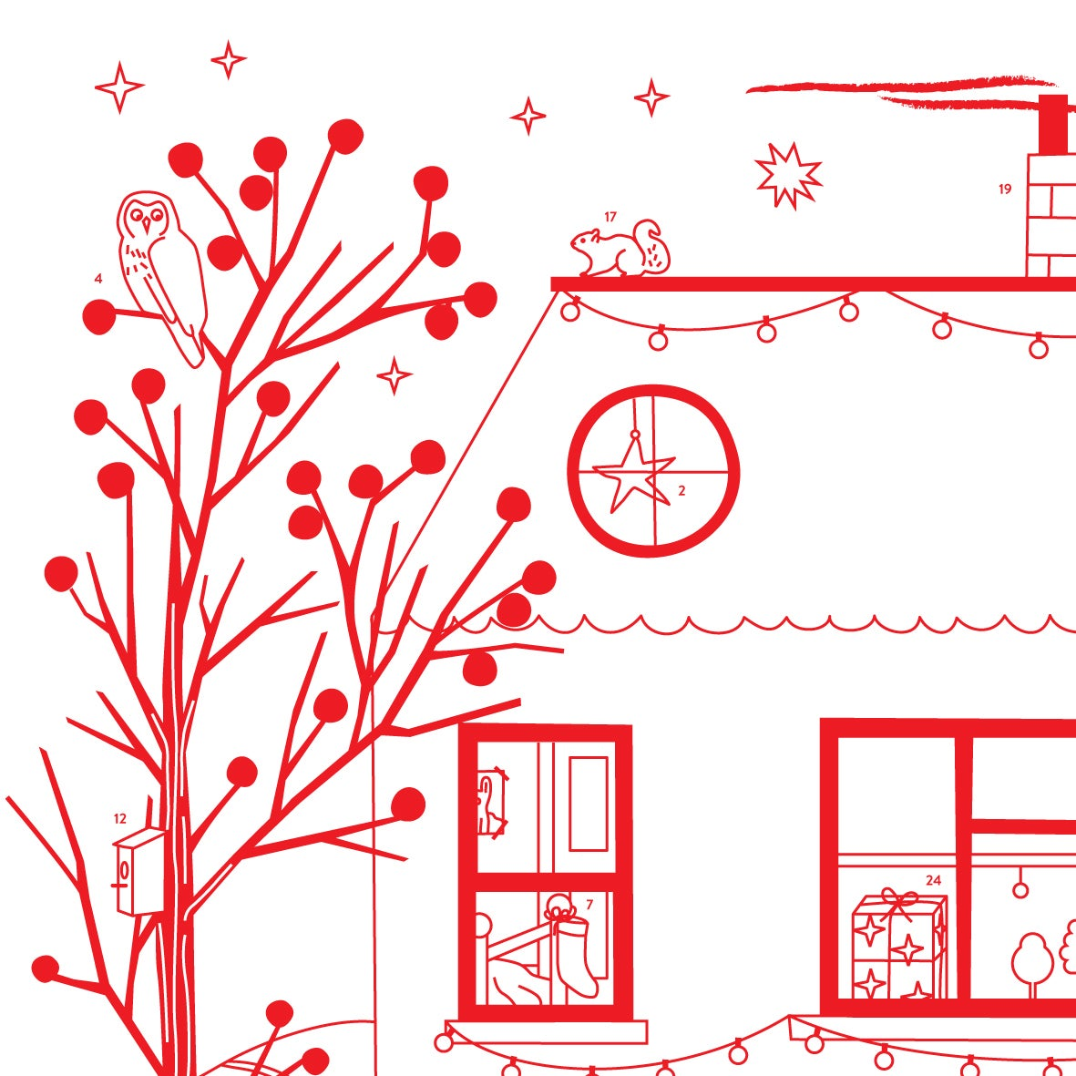 Image of Colour-in Advent Calendar