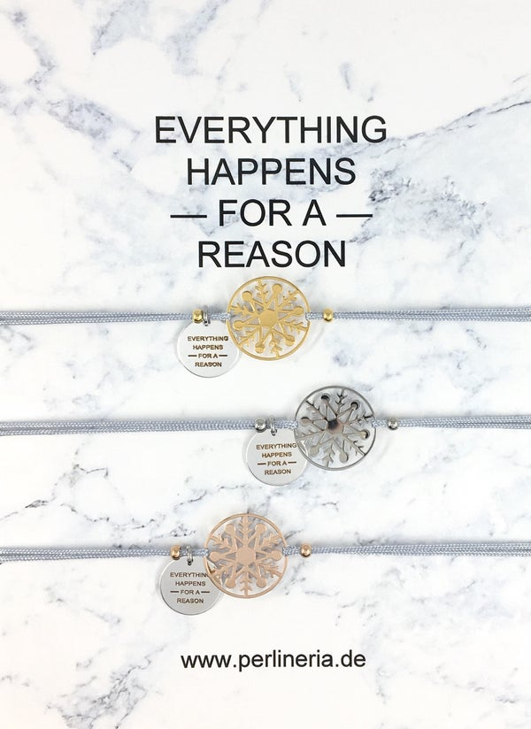 Image of EVERYTHING HAPPENS Armband SNOWFLAKE