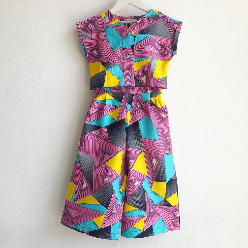 Image of Kimono top + palazzos in disco
