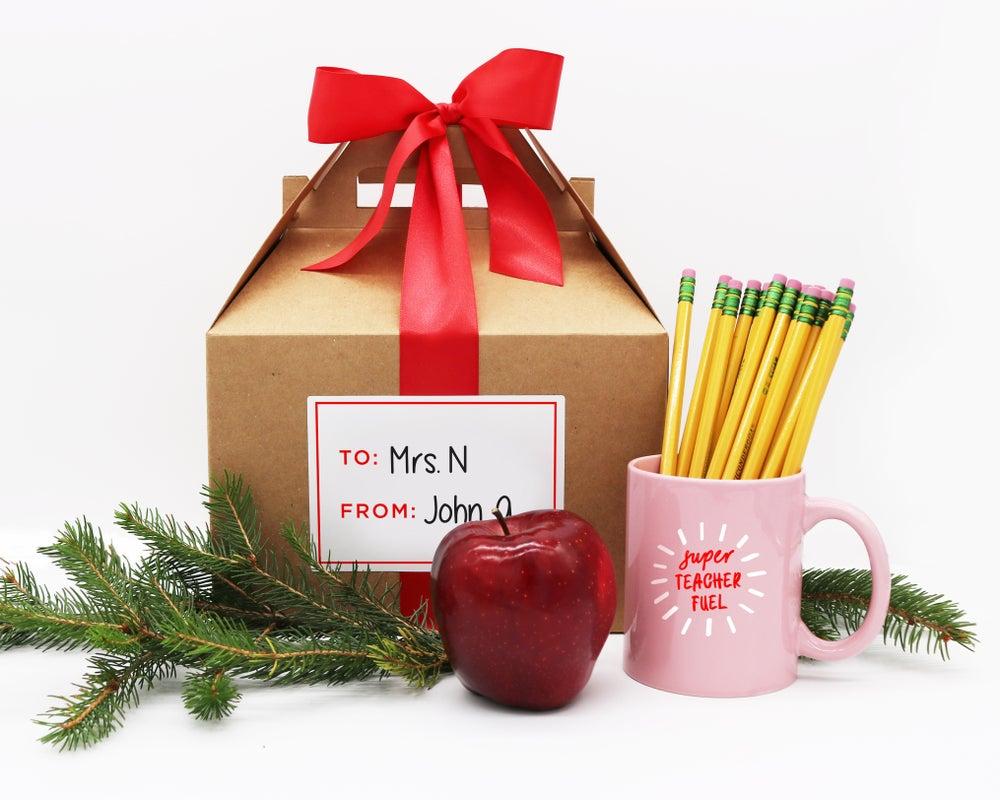 Image of Super Teacher Fuel Mug and Gable Box Gift Set