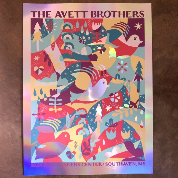 Image of The Avett Brothers 10.24.2019 Foil Variant