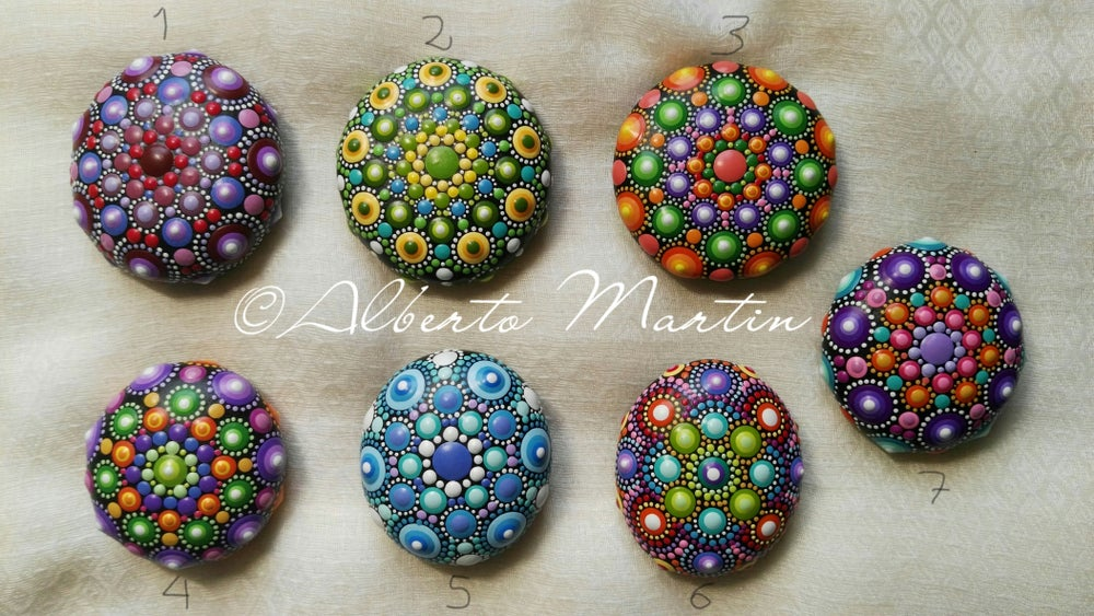 Image of Mandala stones fridge magnet by Alberto Martin