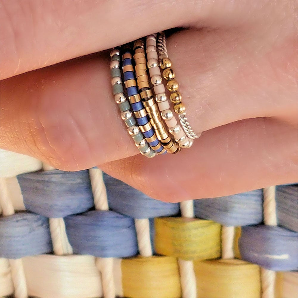 "Image of BAGUE TUBES OR GOLD FILLED ""PISE"""