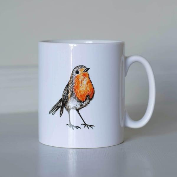 Image of Robin earthenware mug