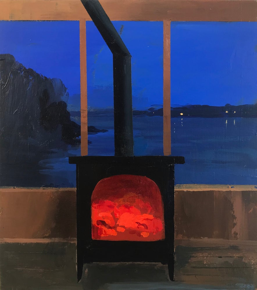 Image of Boat house stove sketch