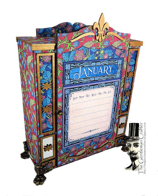 Image of The Fashion Forward Calendar Armoire- Chipboard Kit