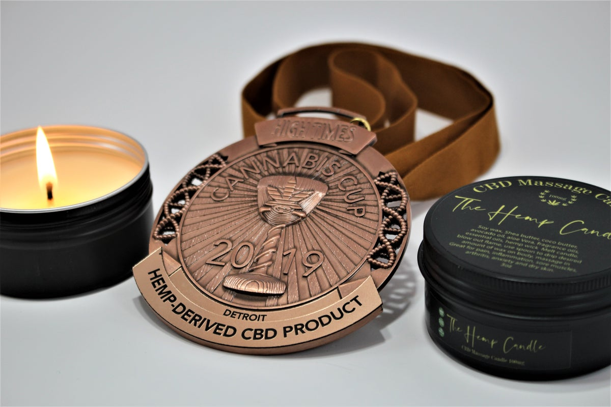 Image of 3oz CBD Massaage Candle (100MG)