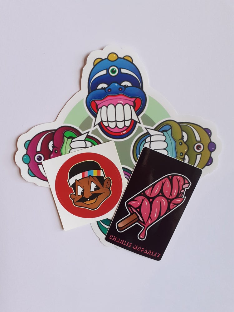 Image of Charlie Mcfarley Sticker pack.