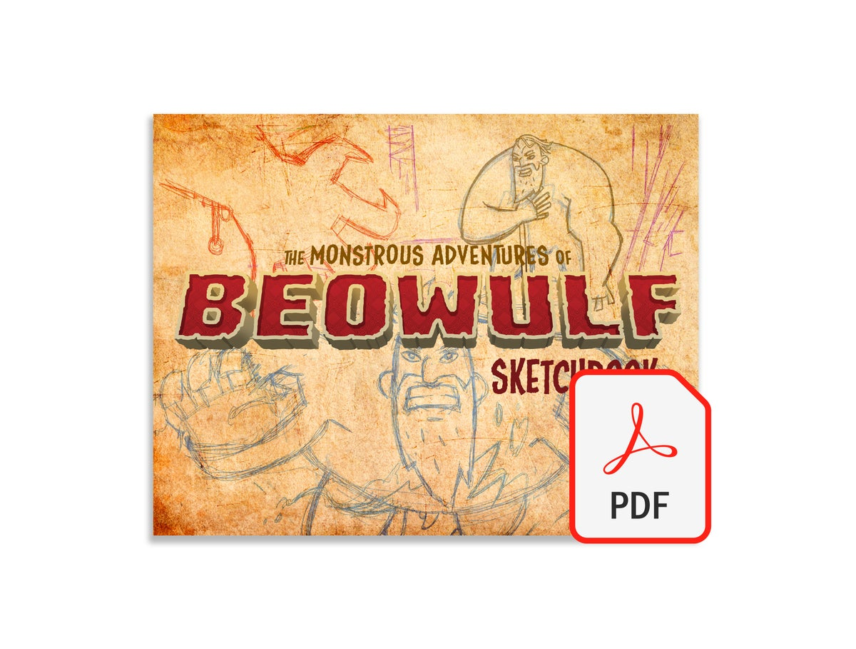 Image of The Monstrous Adventures of Beowulf Sketchbook - Digital