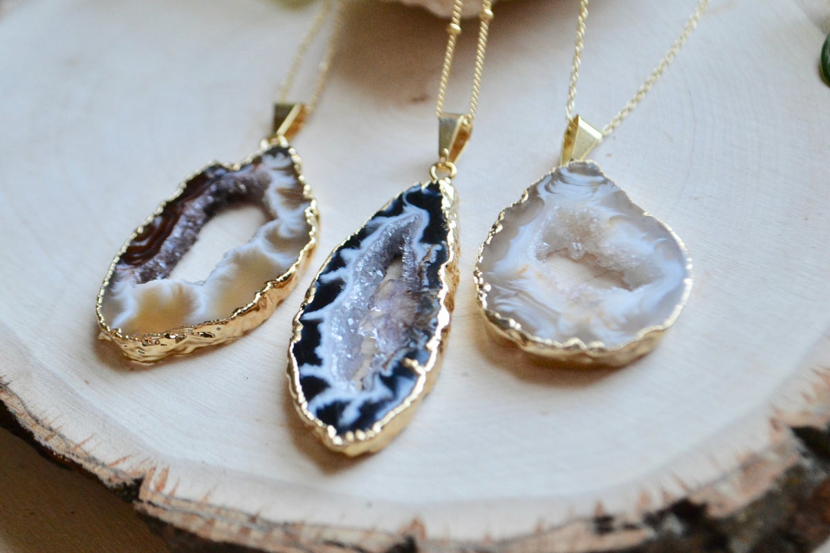 Image of Geode slice necklaces