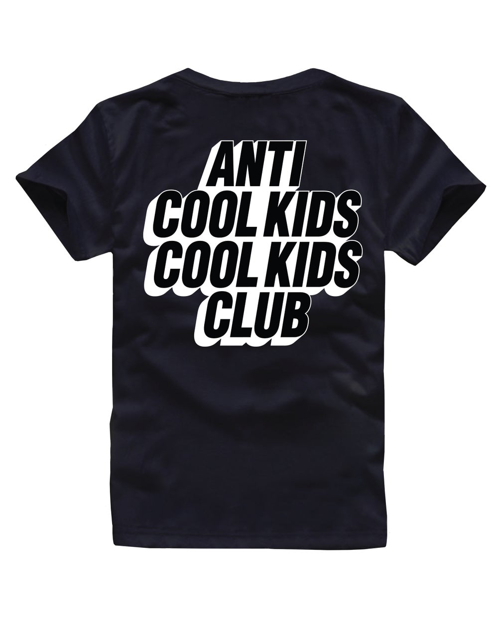 ANTI COOL KIDS BLOCK TEE BLACK