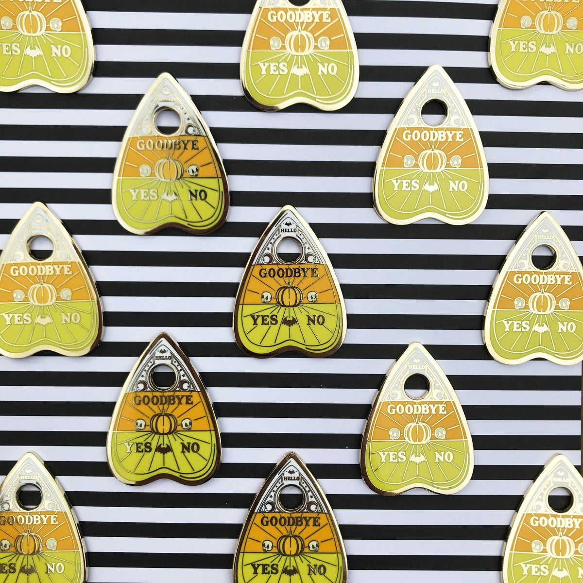 Image of Candy Corn Planchette Pin
