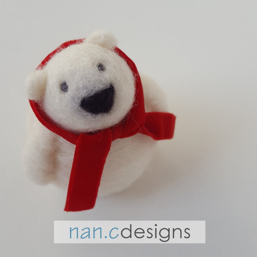 Image of Polar Bear - Needle Felting Kit