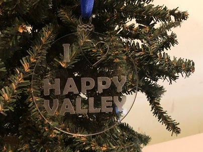 "Image of Acrylic ""I Heart Happy Valley"" Ornament"