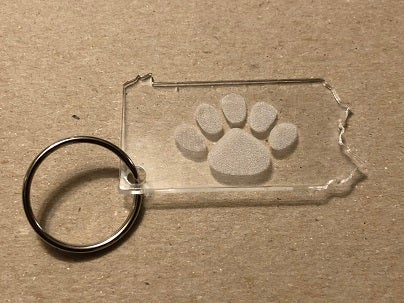 Image of Clear Acrylic Lion's Paw Keychain