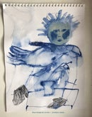 Image of Drawing: Bluebird and Black Mittens
