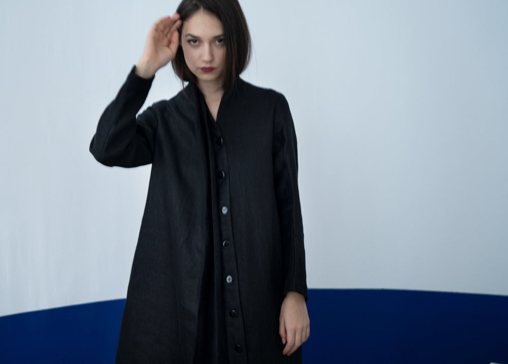 Image of Hemp black coat