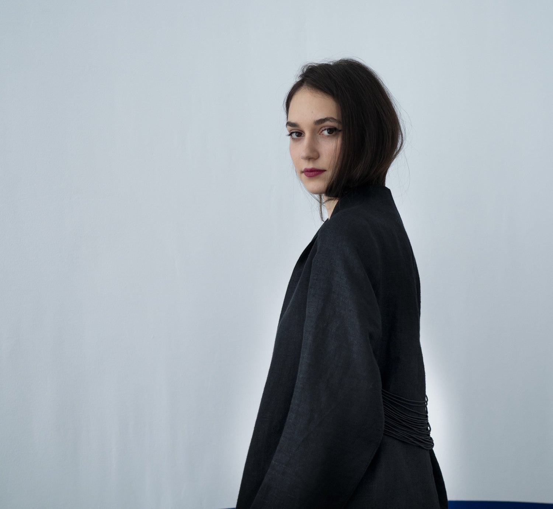 Image of Hemp black coat