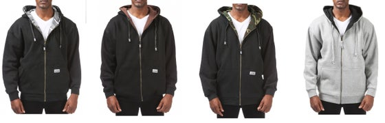 Image of PRO CLUB Reversible Full Zipper Hooded Jacket