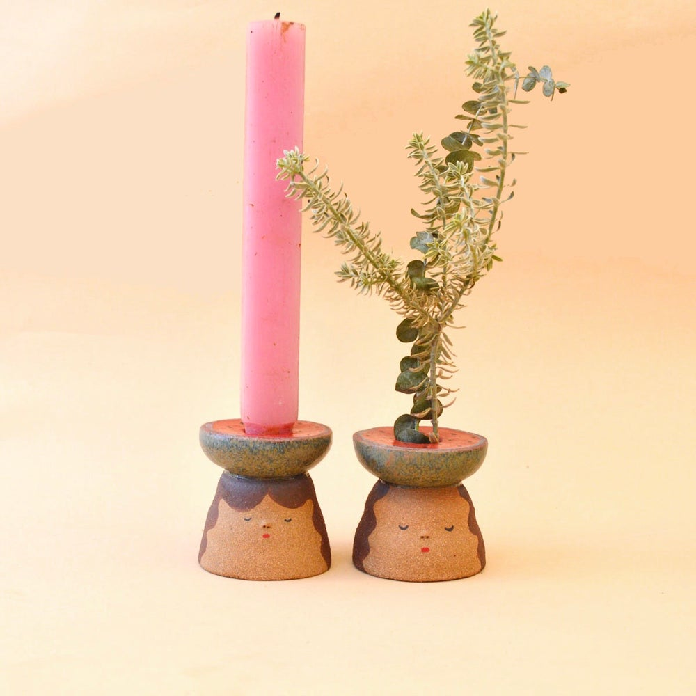 Image of Watermelon candle holders