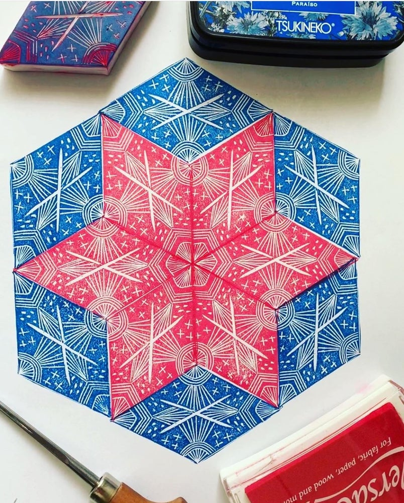 Image of Block Printing Christmas Crafting with Rowan Sivyer Sun Dec !st 10-2pm