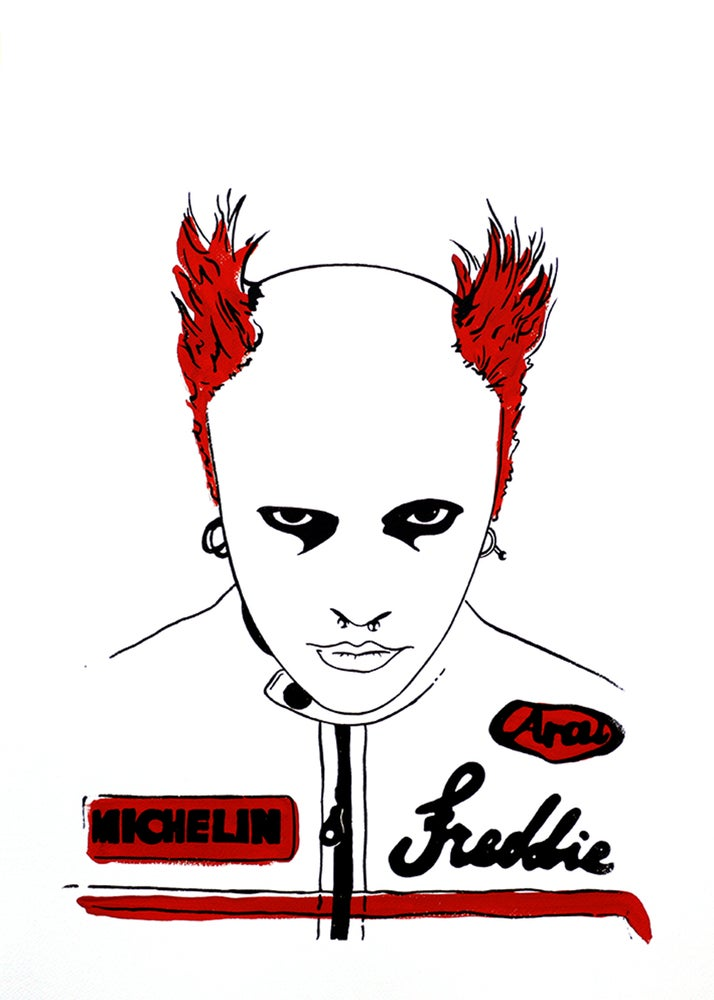"Image of ""Keith Flint (Version Red)"""