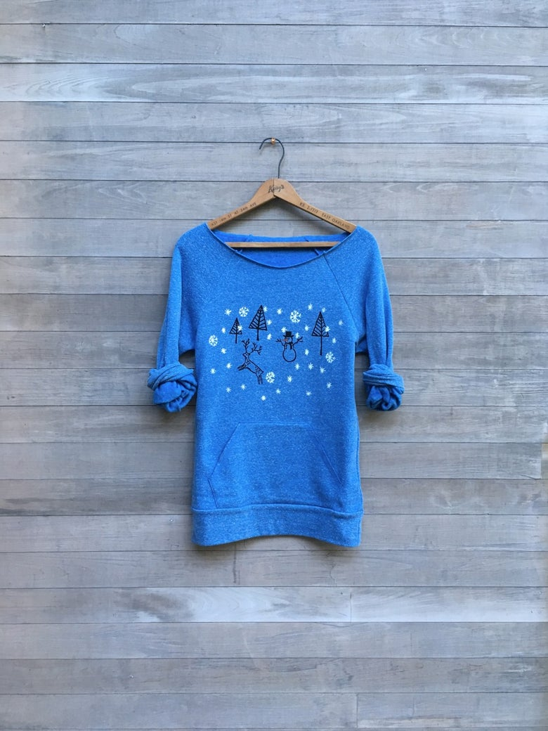 Image of Christmas Sweater in Blue