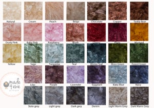 Image of Deluxe Fluffy Small felted rug 40-45cm
