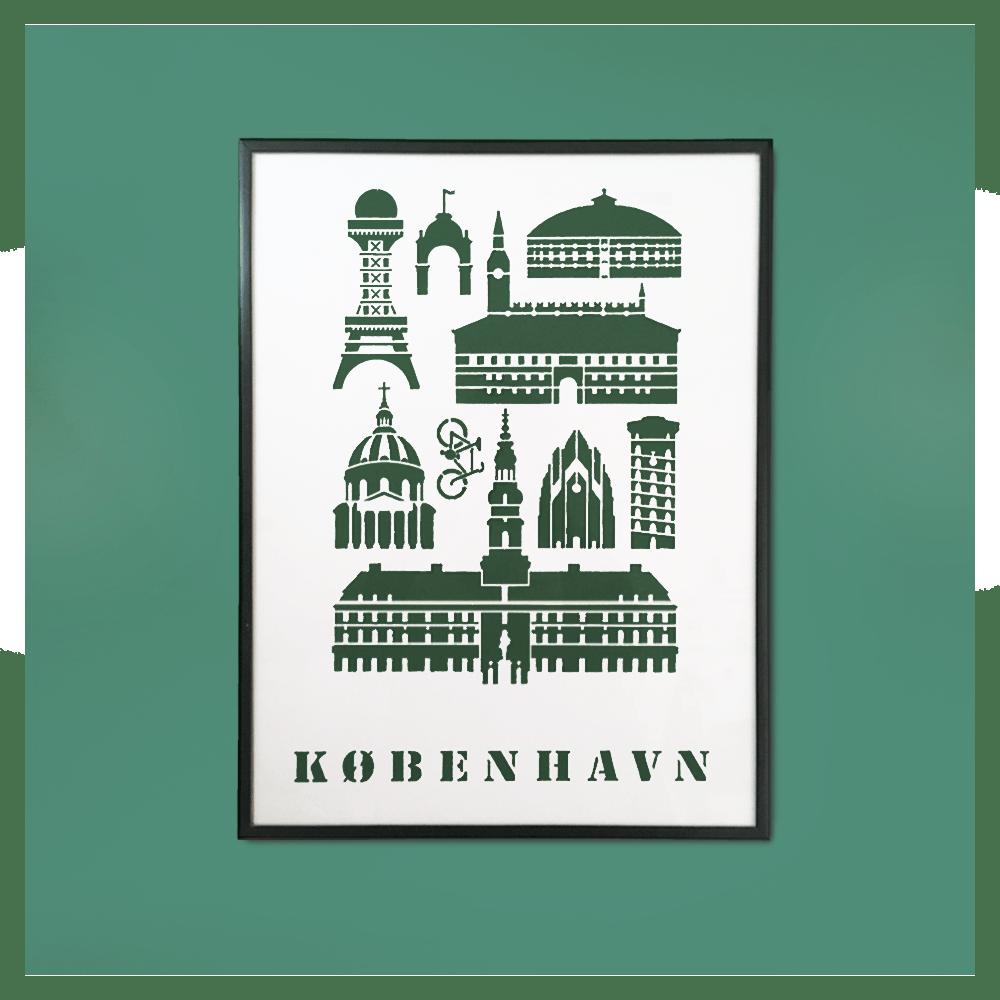 Image of Historical Copenhagen Papercut 30x40 cm
