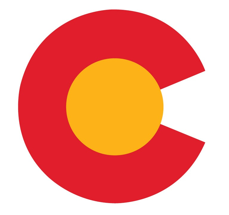 "Image of COLORADO STATE CLASSIC DESIGN 4"" STICKER"
