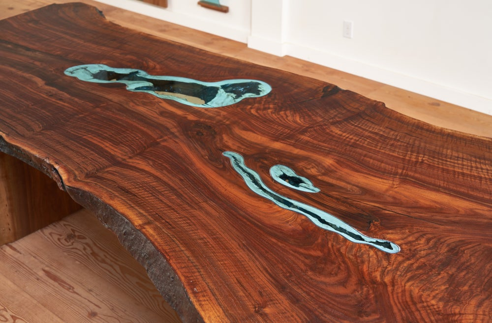 Image of three lake slab table