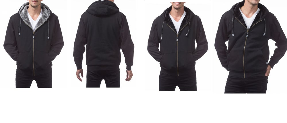 Image of PRO CLUB (pile) Lined fleece with fur