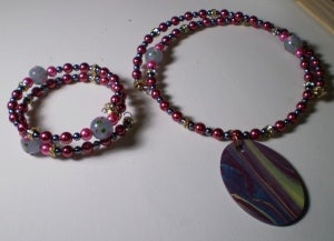 Memory Wire Necklace and Bracelet Set