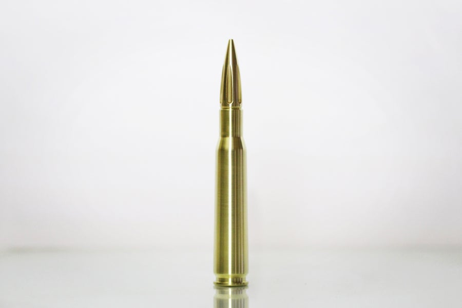 Image of Hot Shots Custom Polished brass case and custom tip