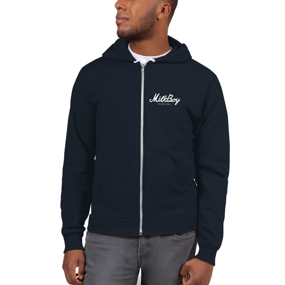 Image of MilkBoy Cab Zip Up Hoodie Navy