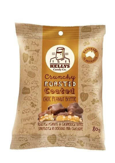 Image of CHOC PEANUT BRITTLE - SNACK PACK 80G (1) INDIVIDUAL
