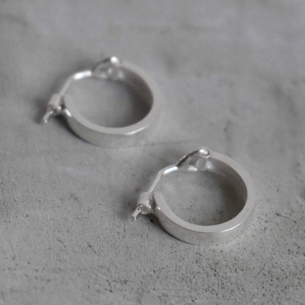 Image of Classic Silver Hoop Earrings
