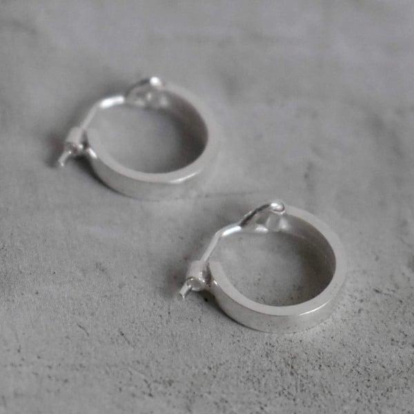 Image of Classic Silver Hoop Earrings