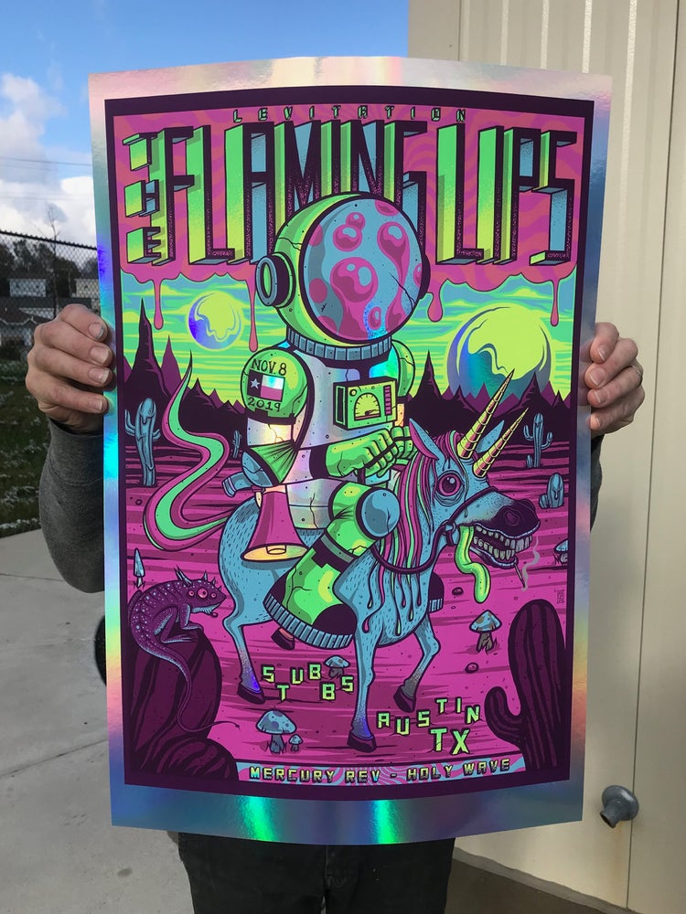 Image of The Flaming Lips - Levitation 2019 - Rainbow Foil Artist Edition