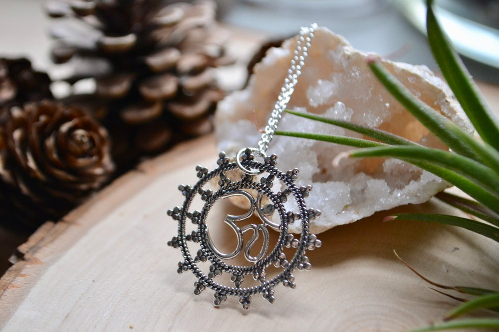 Image of Om and mandala necklace