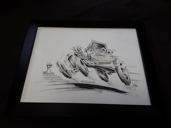 Image of Model t ink drawing
