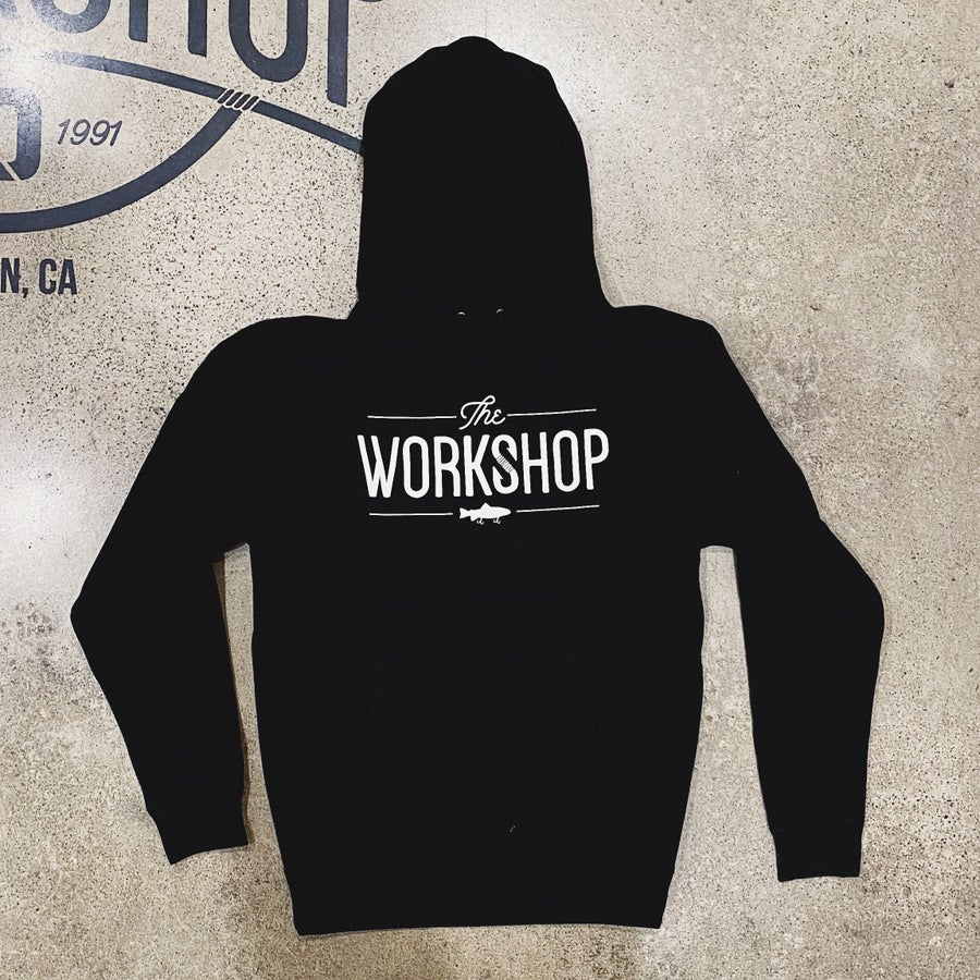 Image of The Workshop Black Hooded Sweatshirt