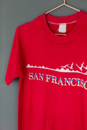 Image of 80s Red San Francisco Shirt