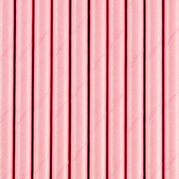 Image of Pajitas de papel rosa