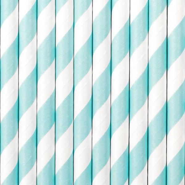 Image of Pajitas de papel azul cielo