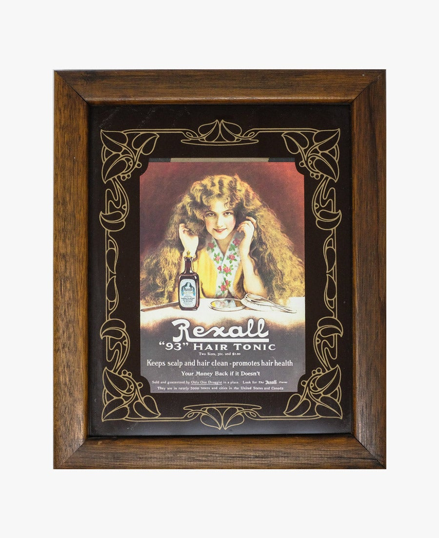 Image of Rexall Hair Tonic Framed Ad